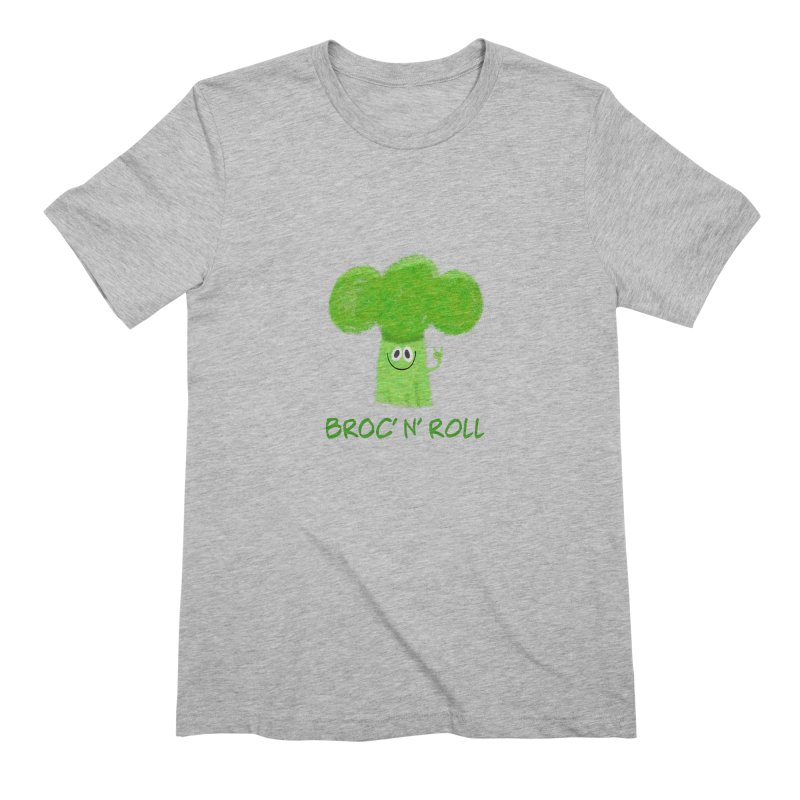 Broc' n' Roll Brocculi - Rock' n' Roll - Vegan Hard Rock Rocker Men's Extra Soft T-Shirt by amirabouroumie's Artist Shop