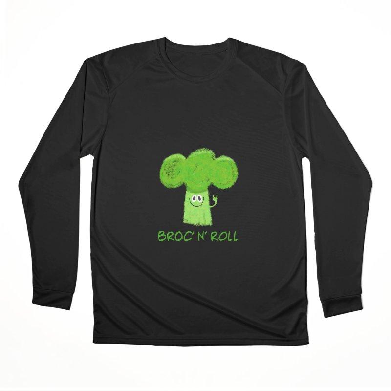 Broc' n' Roll Brocculi - Rock' n' Roll - Vegan Hard Rock Rocker Women's Performance Unisex Longsleeve T-Shirt by amirabouroumie's Artist Shop