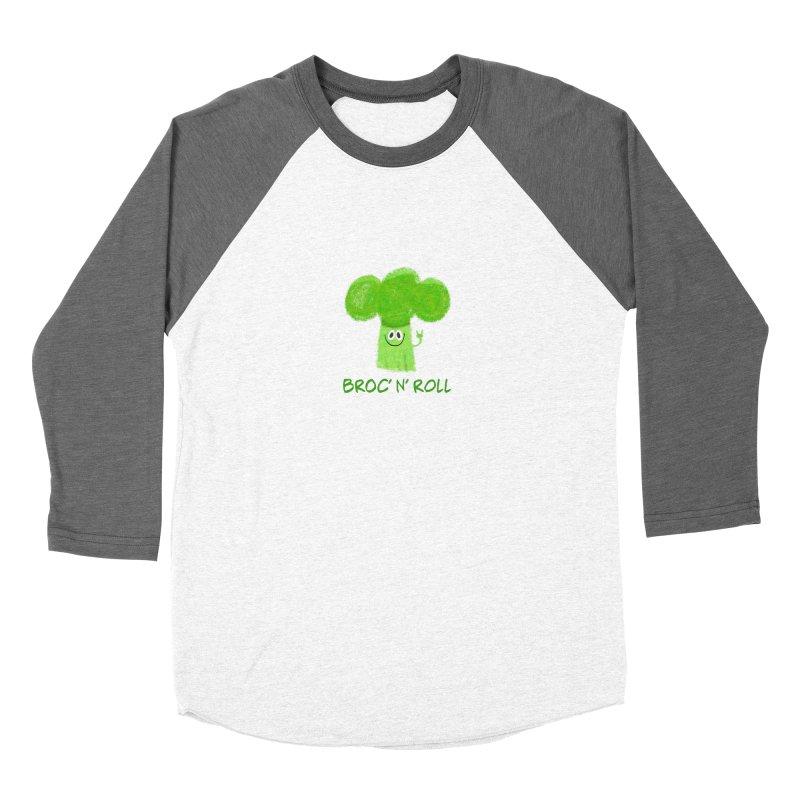 Broc' n' Roll Brocculi - Rock' n' Roll - Vegan Hard Rock Rocker Men's Baseball Triblend Longsleeve T-Shirt by amirabouroumie's Artist Shop