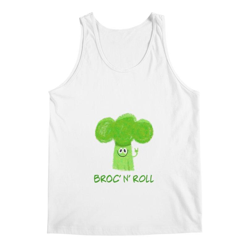 Broc' n' Roll Brocculi - Rock' n' Roll - Vegan Hard Rock Rocker Men's Regular Tank by amirabouroumie's Artist Shop