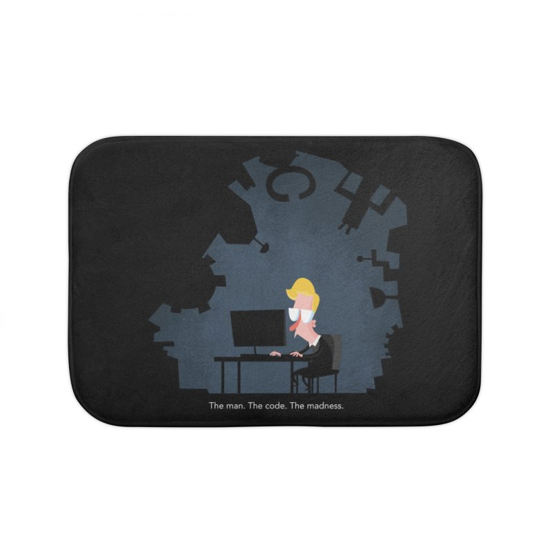 The Man. The Code. The Madness. Home Bath Mat by amirabouroumie's Artist Shop