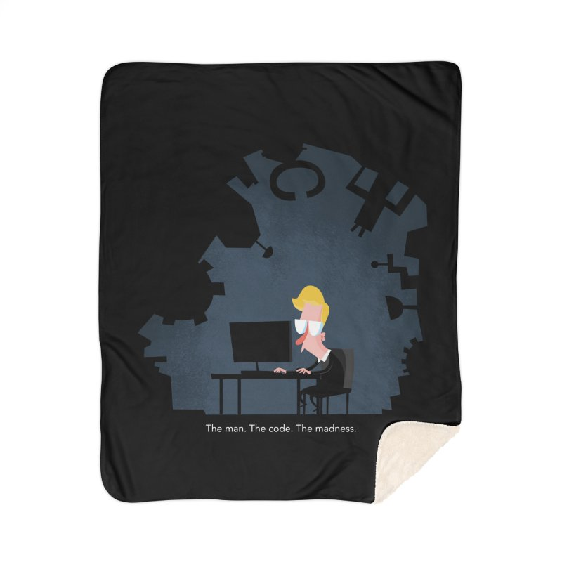 The Man. The Code. The Madness. Home Sherpa Blanket Blanket by amirabouroumie's Artist Shop