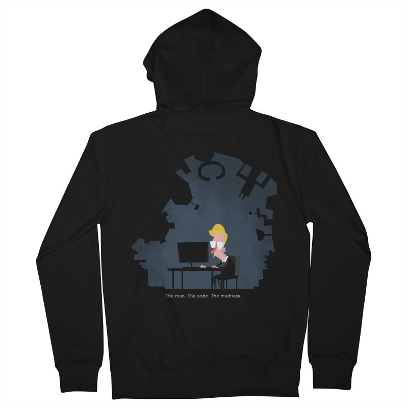 The Man. The Code. The Madness. Men's French Terry Zip-Up Hoody by amirabouroumie's Artist Shop