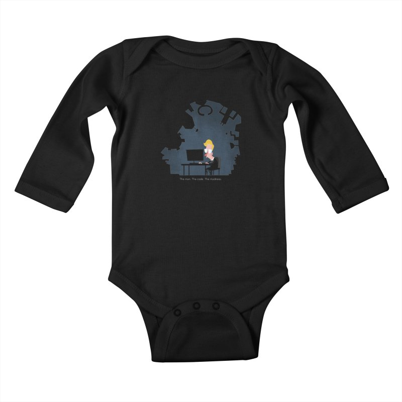 The Man. The Code. The Madness. Kids Baby Longsleeve Bodysuit by amirabouroumie's Artist Shop