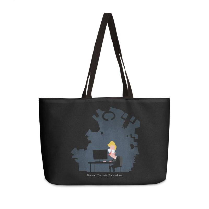 The Man. The Code. The Madness. Accessories Bag by amirabouroumie's Artist Shop