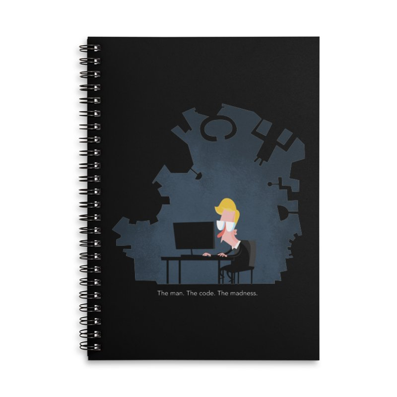 The Man. The Code. The Madness. Accessories Lined Spiral Notebook by amirabouroumie's Artist Shop