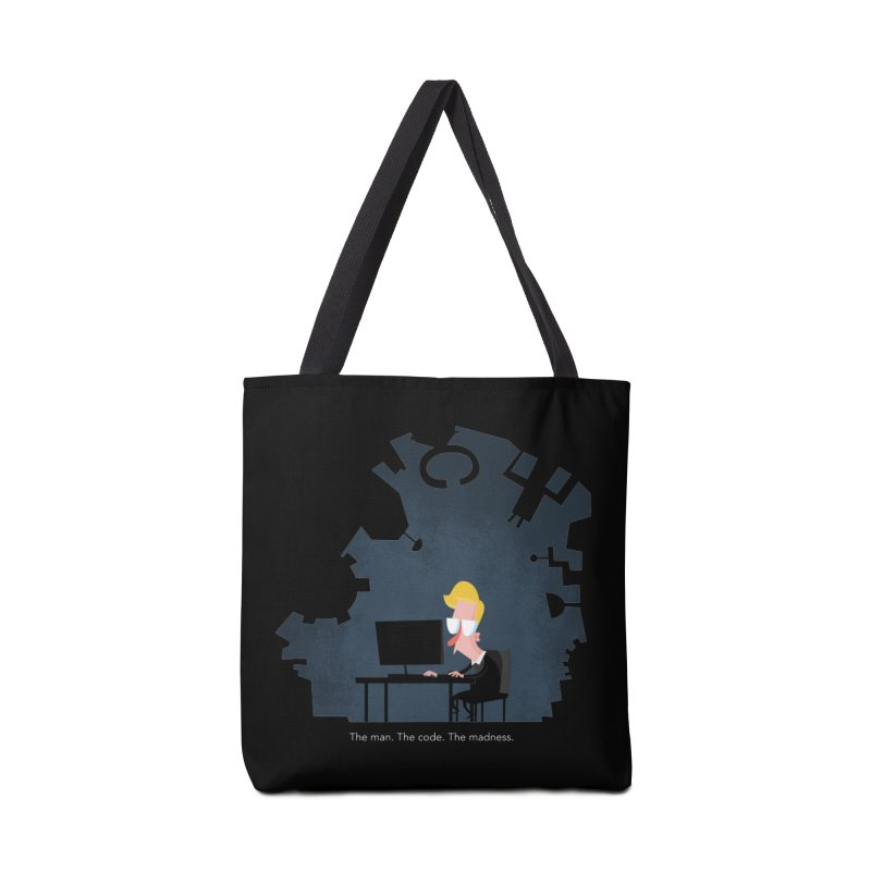 The Man. The Code. The Madness. Accessories Tote Bag Bag by amirabouroumie's Artist Shop