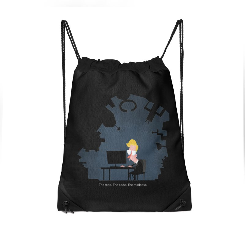 The Man. The Code. The Madness. Accessories Drawstring Bag Bag by amirabouroumie's Artist Shop