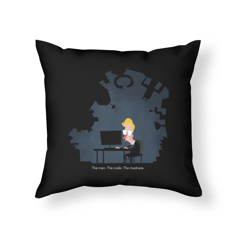 The Man. The Code. The Madness. Home Throw Pillow by amirabouroumie's Artist Shop