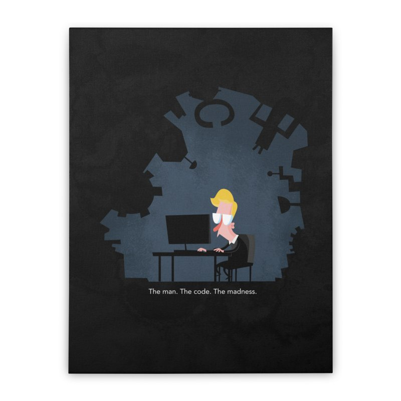 The Man. The Code. The Madness. Home Stretched Canvas by amirabouroumie's Artist Shop