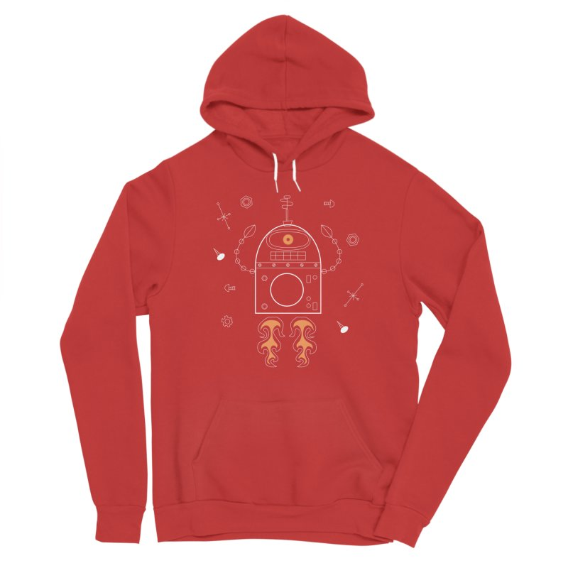 Space Robot with Rockets flying through the Universe Men's Pullover Hoody by amirabouroumie's Artist Shop
