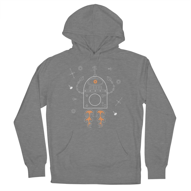 Space Robot with Rockets flying through the Universe Women's Pullover Hoody by amirabouroumie's Artist Shop