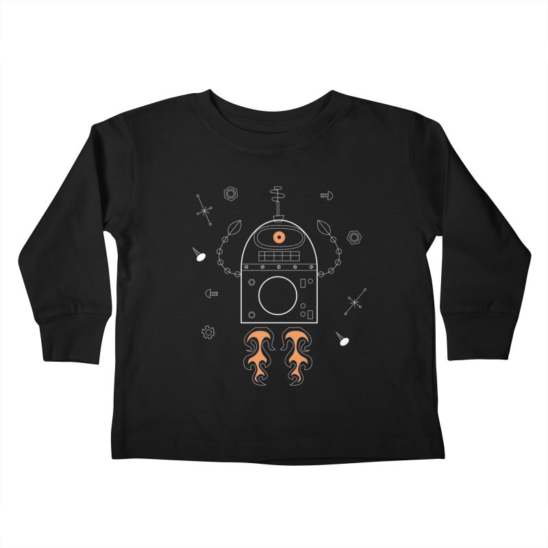 Space Robot with Rockets flying through the Universe Kids Toddler Longsleeve T-Shirt by amirabouroumie's Artist Shop