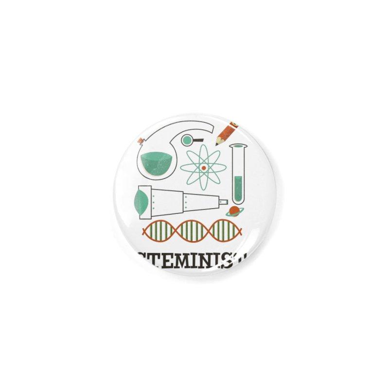 Steminist Science Retro Technology Engineering Math STEM Accessories Button by amirabouroumie's Artist Shop
