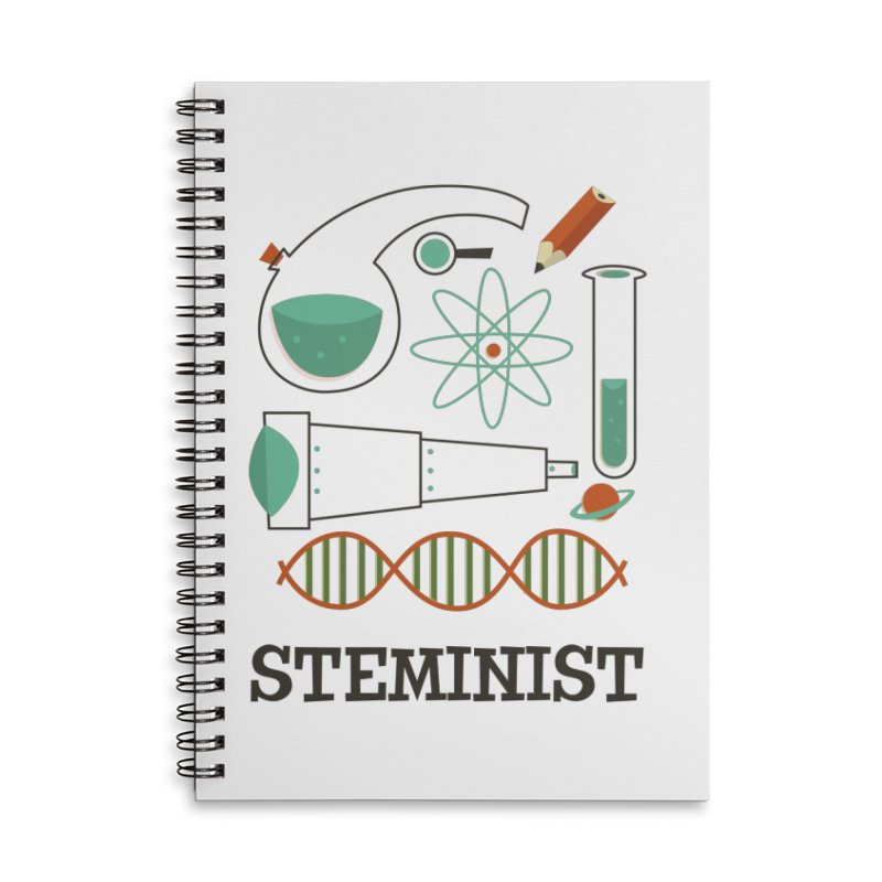 Steminist Science Retro Technology Engineering Math STEM Accessories Notebook by amirabouroumie's Artist Shop
