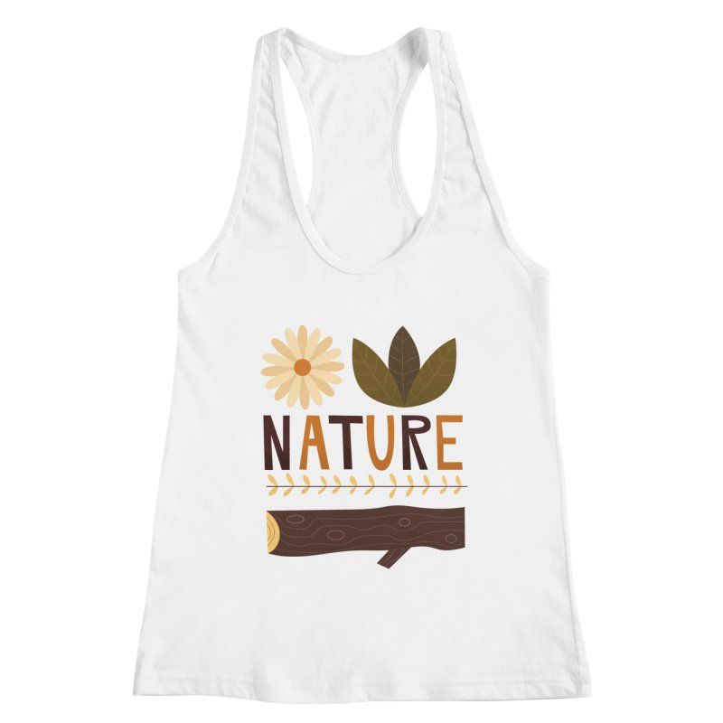 Outdoors Vintage Nature T-Shirt | Retro Camping Design Women's Tank by amirabouroumie's Artist Shop