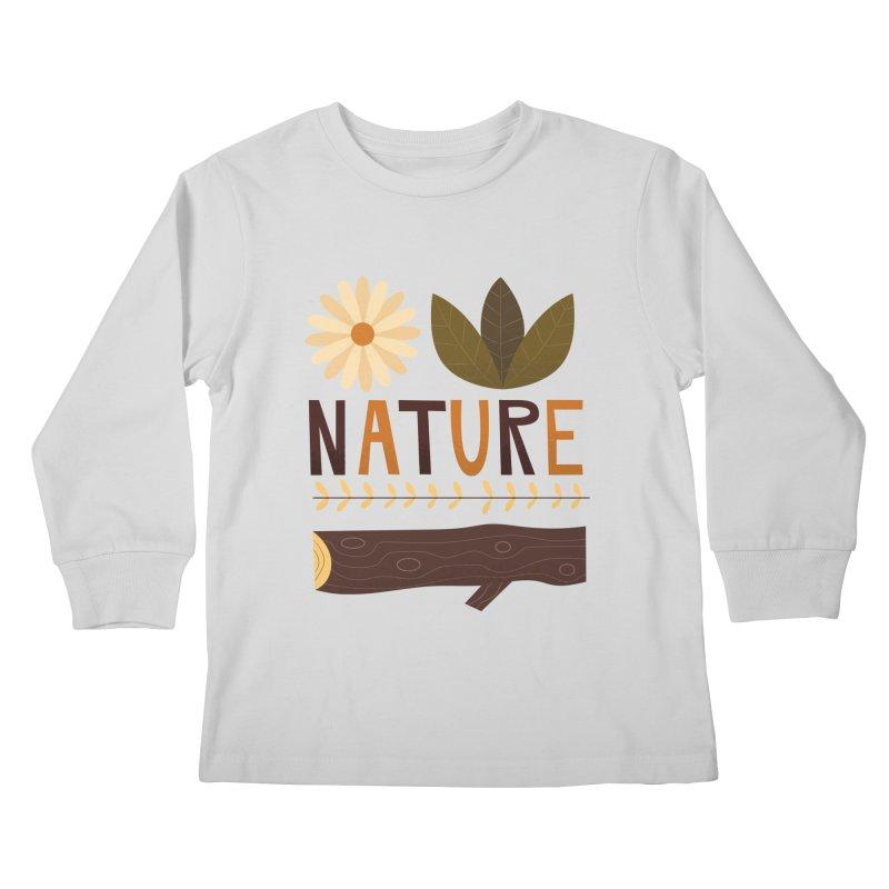 Outdoors Vintage Nature T-Shirt   Retro Camping Design Kids Longsleeve T-Shirt by amirabouroumie's Artist Shop