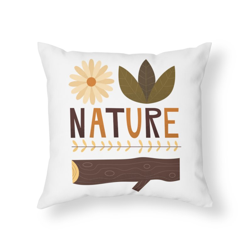 Outdoors Vintage Nature T-Shirt | Retro Camping Design Home Throw Pillow by amirabouroumie's Artist Shop