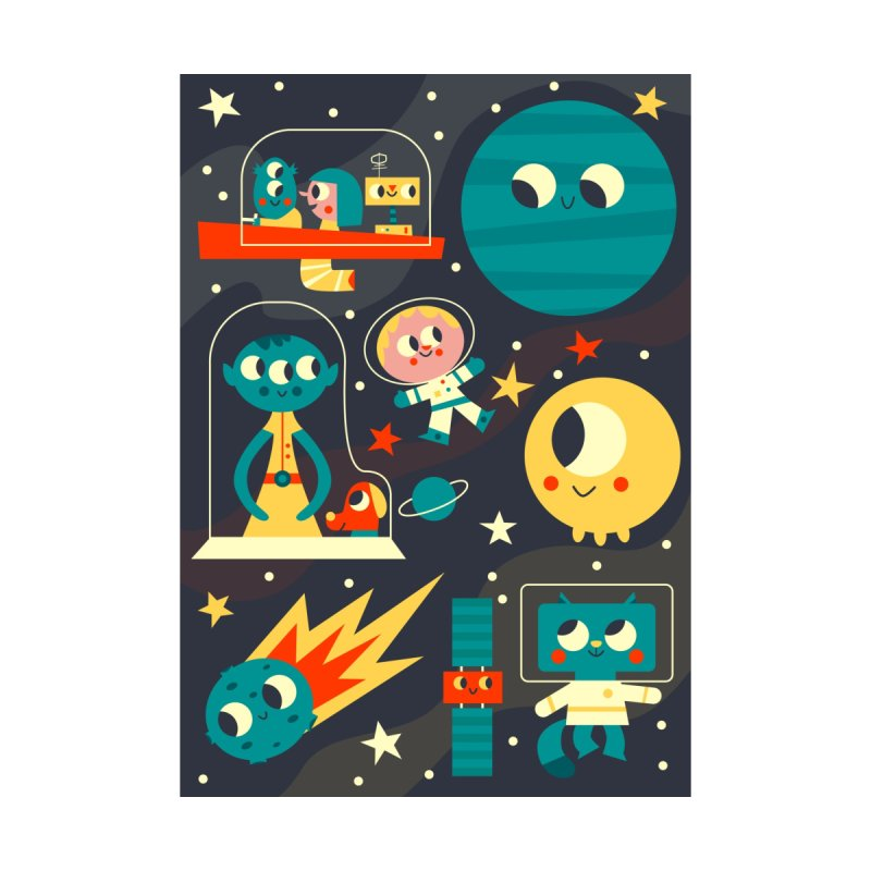 Happy in Space Poster Home Fine Art Print by amirabouroumie's Artist Shop
