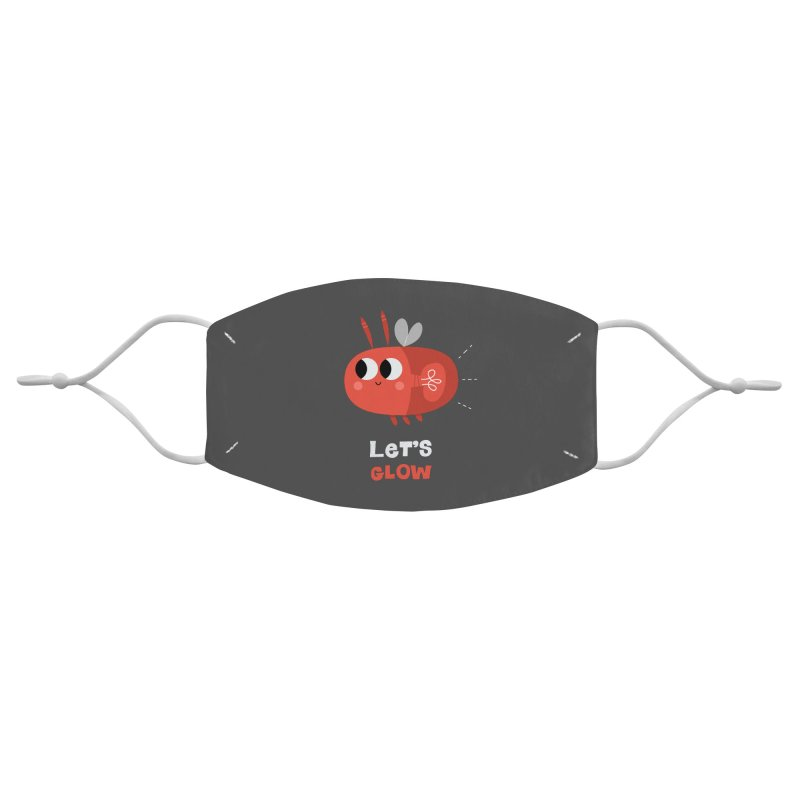 Let's Glow   Cute Firefly Lightning Bug Retro Accessories Face Mask by amirabouroumie's Artist Shop