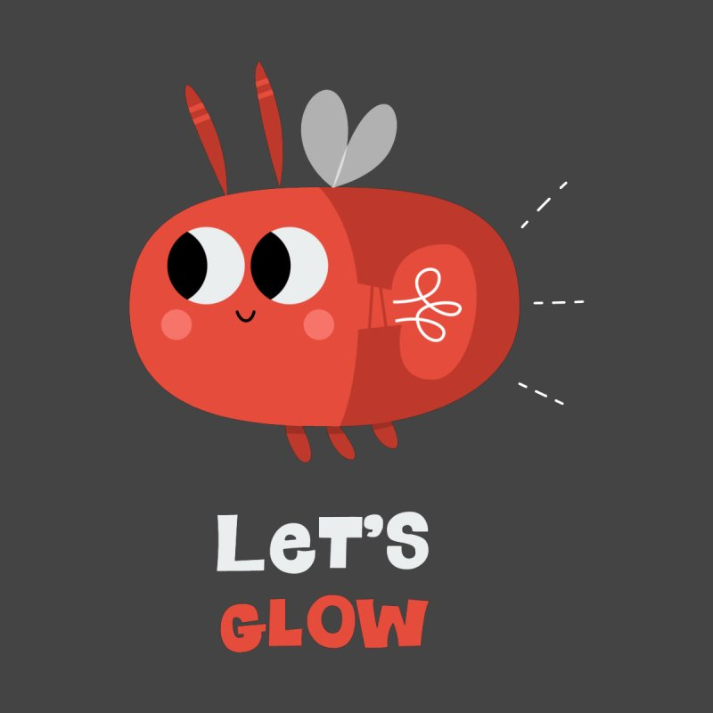 Let's Glow | Cute Firefly Lightning Bug Retro Home Throw Pillow by amirabouroumie's Artist Shop