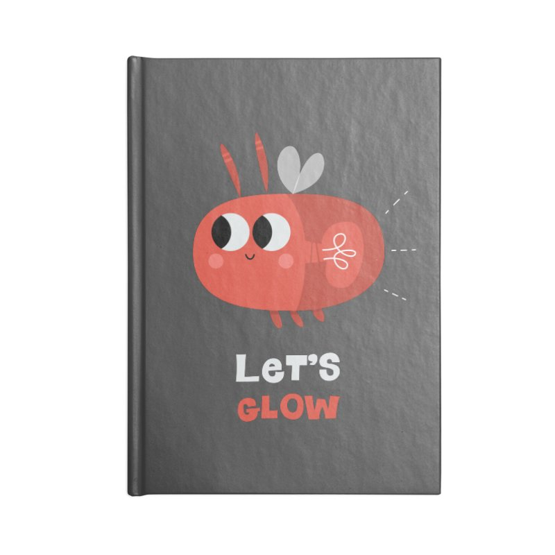 Let's Glow   Cute Firefly Lightning Bug Retro Accessories Notebook by amirabouroumie's Artist Shop