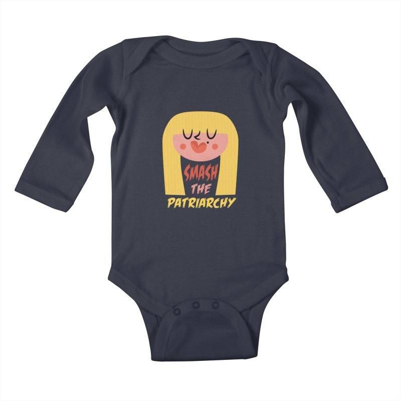 Smash The Patriarchy with Style Kids Baby Longsleeve Bodysuit by amirabouroumie's Artist Shop