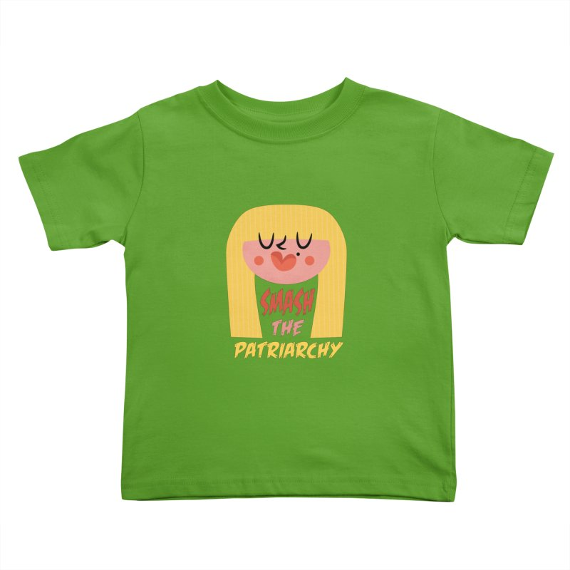 Smash The Patriarchy with Style Kids Toddler T-Shirt by amirabouroumie's Artist Shop