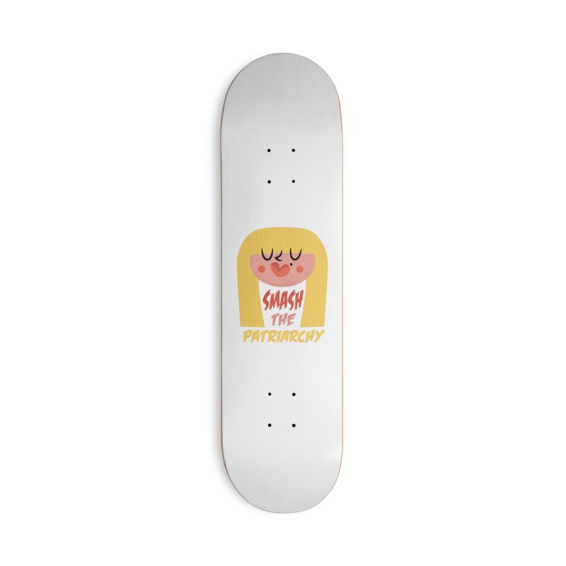 Smash The Patriarchy with Style Accessories Skateboard by amirabouroumie's Artist Shop