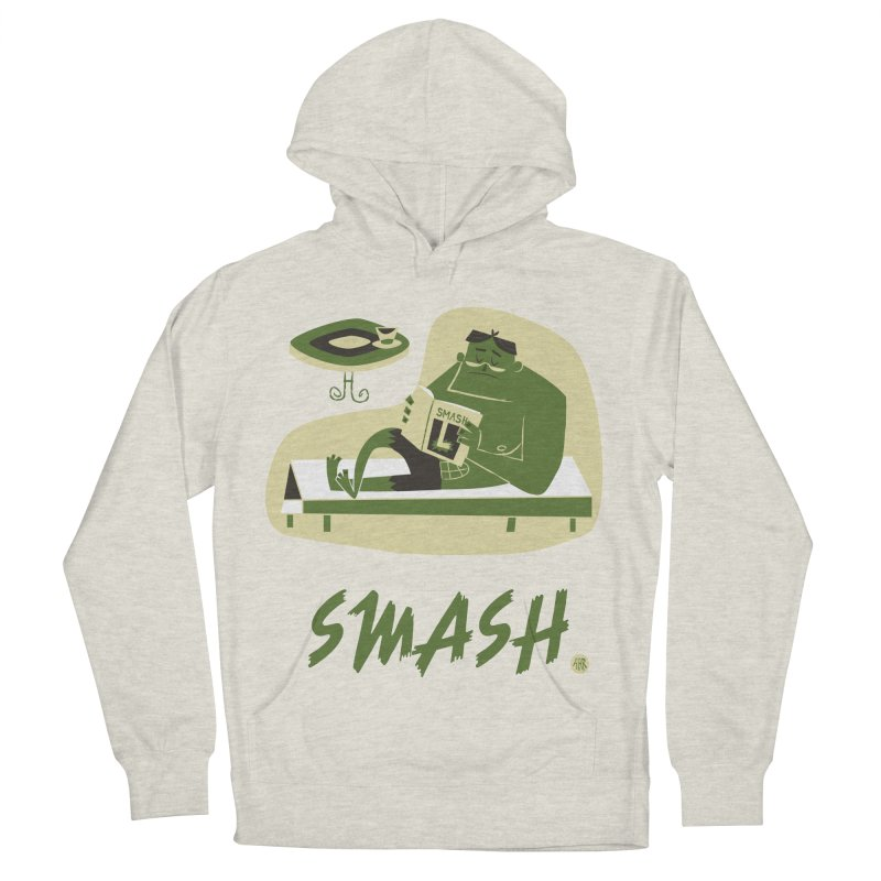 SMASH! Women's French Terry Pullover Hoody by amirabouroumie's Artist Shop