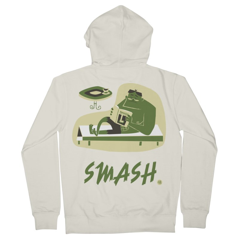SMASH! Women's French Terry Zip-Up Hoody by amirabouroumie's Artist Shop