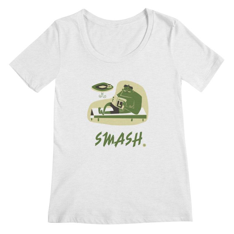 SMASH! Women's Regular Scoop Neck by amirabouroumie's Artist Shop