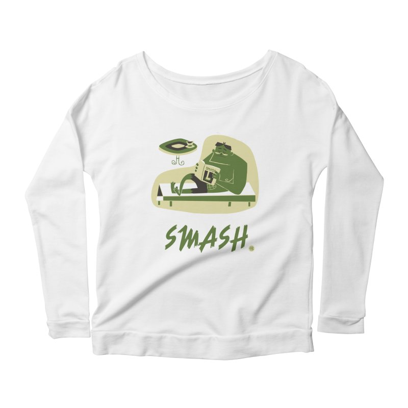 SMASH! Women's Scoop Neck Longsleeve T-Shirt by amirabouroumie's Artist Shop