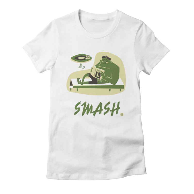 SMASH! Women's Fitted T-Shirt by amirabouroumie's Artist Shop