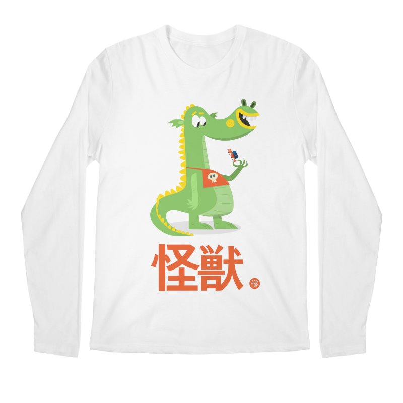 Kaiju - Friendly neighbourhood dragon Men's Regular Longsleeve T-Shirt by amirabouroumie's Artist Shop