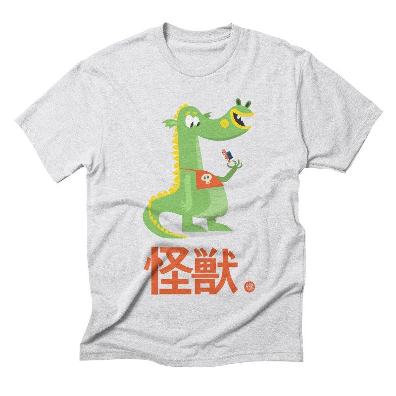 Kaiju - Friendly neighbourhood dragon Men's Triblend T-Shirt by amirabouroumie's Artist Shop