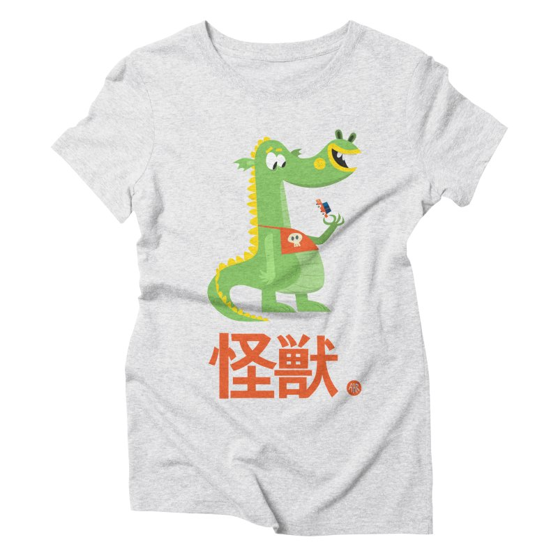 Kaiju - Friendly neighbourhood dragon Women's Triblend T-Shirt by amirabouroumie's Artist Shop