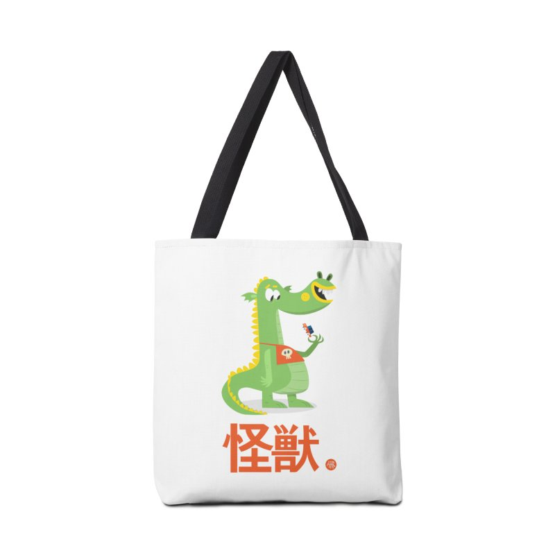 Kaiju - Friendly neighbourhood dragon Accessories Tote Bag Bag by amirabouroumie's Artist Shop