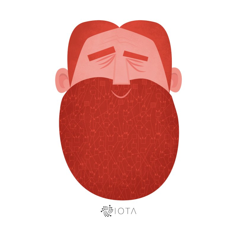 IOTA - Explore the Tangle - David's Beard   by amirabouroumie's Artist Shop