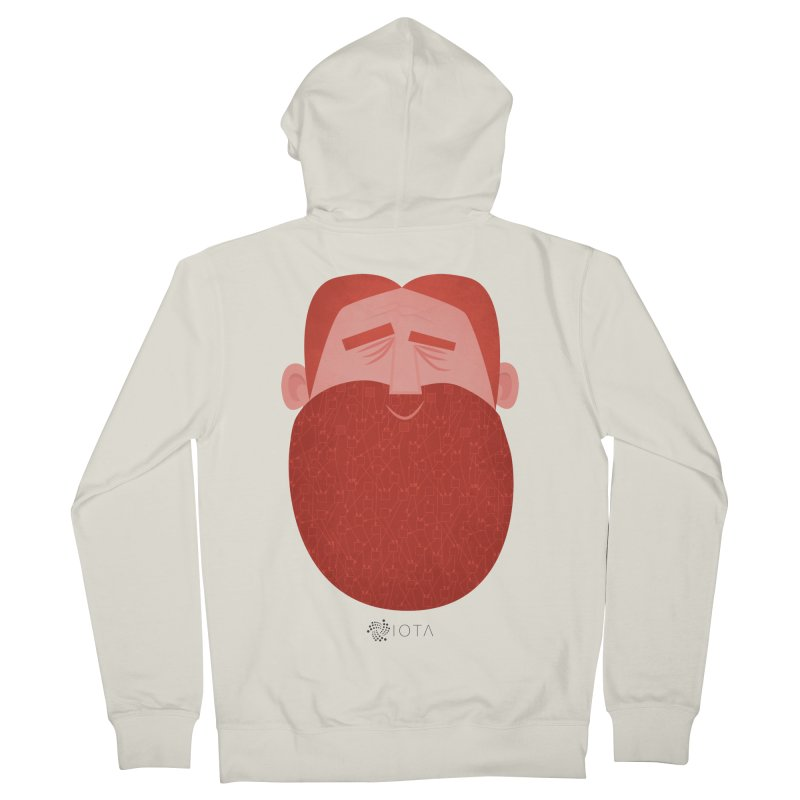 IOTA - Explore the Tangle - David's Beard Women's French Terry Zip-Up Hoody by amirabouroumie's Artist Shop
