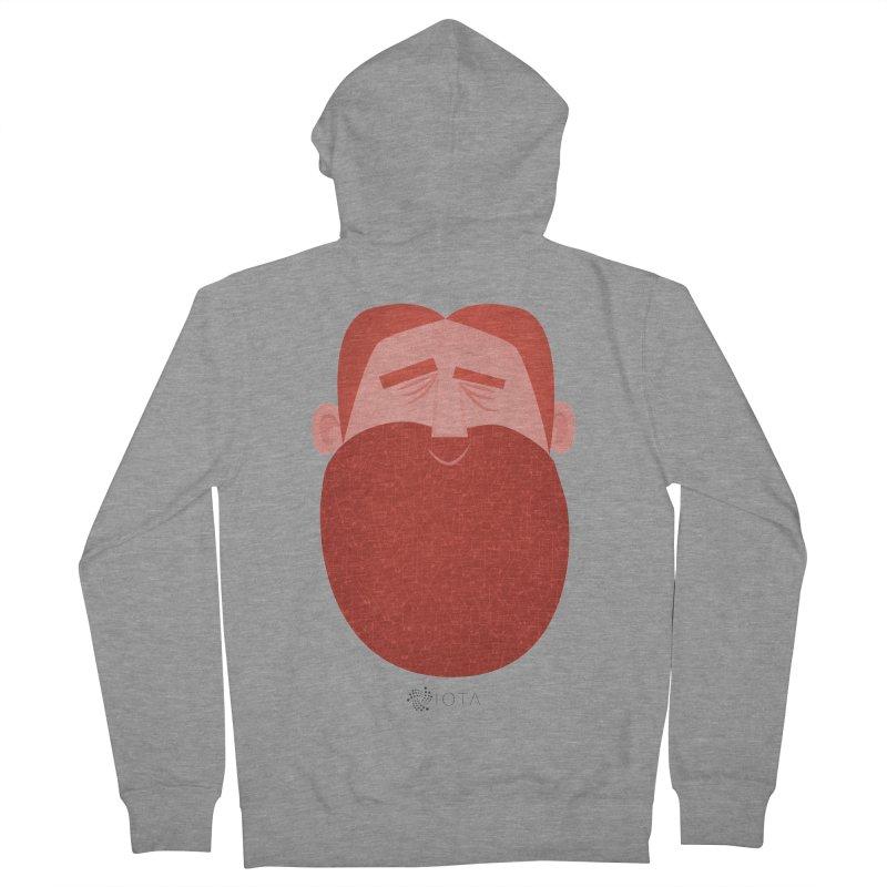 IOTA - Explore the Tangle - David's Beard Men's French Terry Zip-Up Hoody by amirabouroumie's Artist Shop