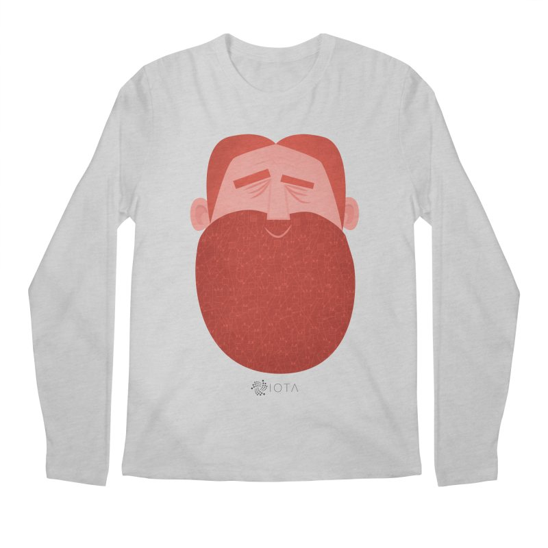 IOTA - Explore the Tangle - David's Beard Men's Regular Longsleeve T-Shirt by amirabouroumie's Artist Shop