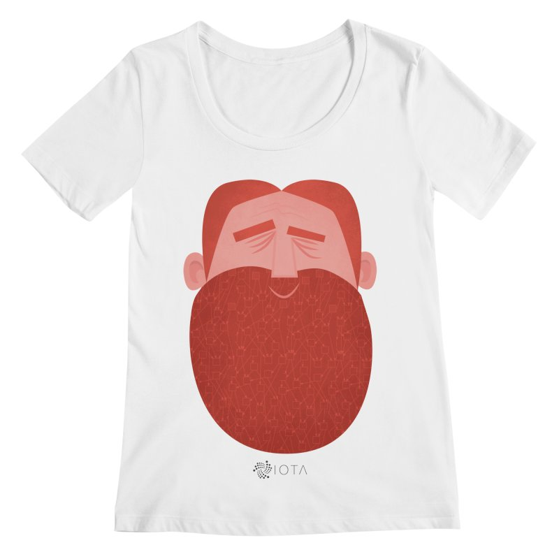 IOTA - Explore the Tangle - David's Beard Women's Regular Scoop Neck by amirabouroumie's Artist Shop