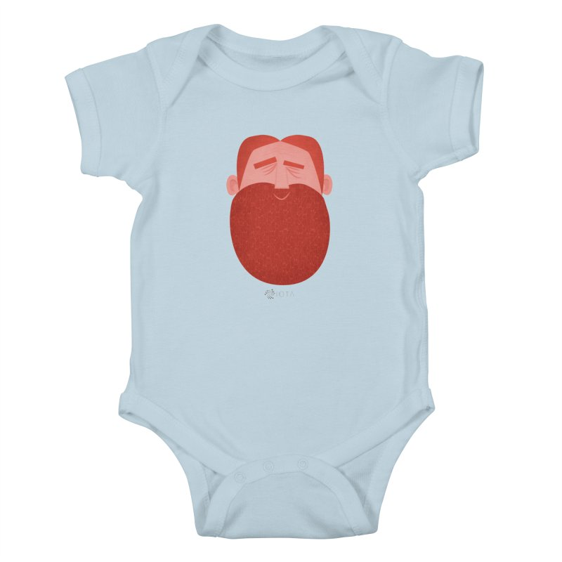 IOTA - Explore the Tangle - David's Beard Kids Baby Bodysuit by amirabouroumie's Artist Shop