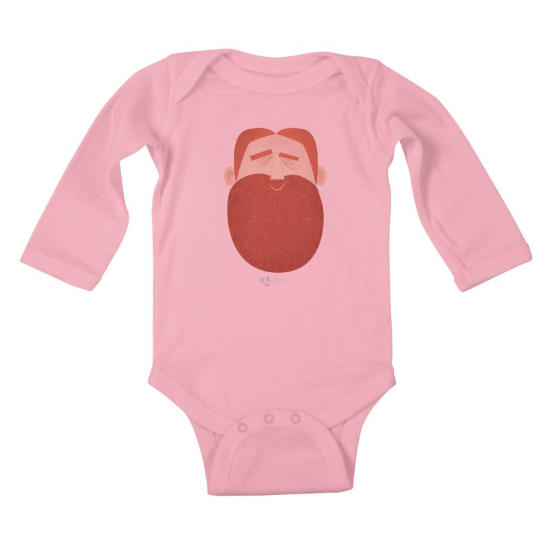 IOTA - Explore the Tangle - David's Beard Kids Baby Longsleeve Bodysuit by amirabouroumie's Artist Shop