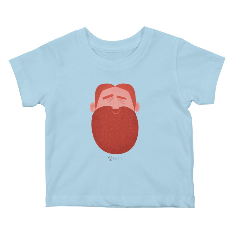 IOTA - Explore the Tangle - David's Beard Kids Baby T-Shirt by amirabouroumie's Artist Shop