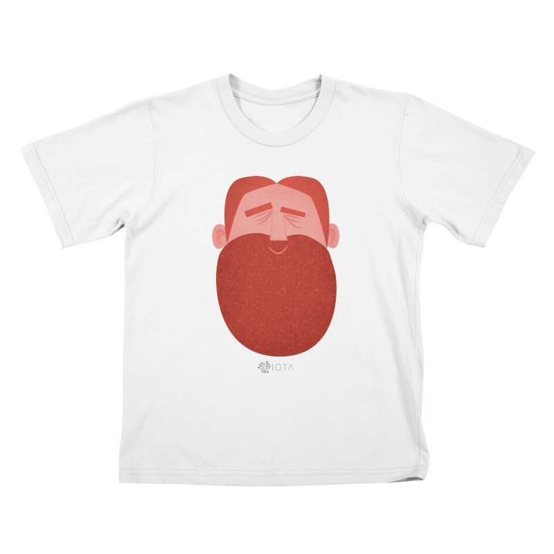 IOTA - Explore the Tangle - David's Beard Kids T-Shirt by amirabouroumie's Artist Shop