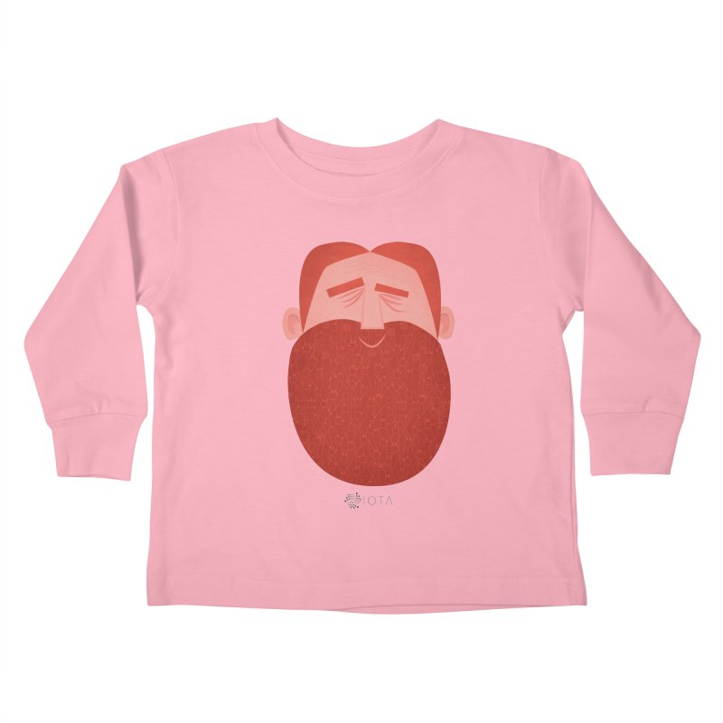 IOTA - Explore the Tangle - David's Beard Kids Toddler Longsleeve T-Shirt by amirabouroumie's Artist Shop