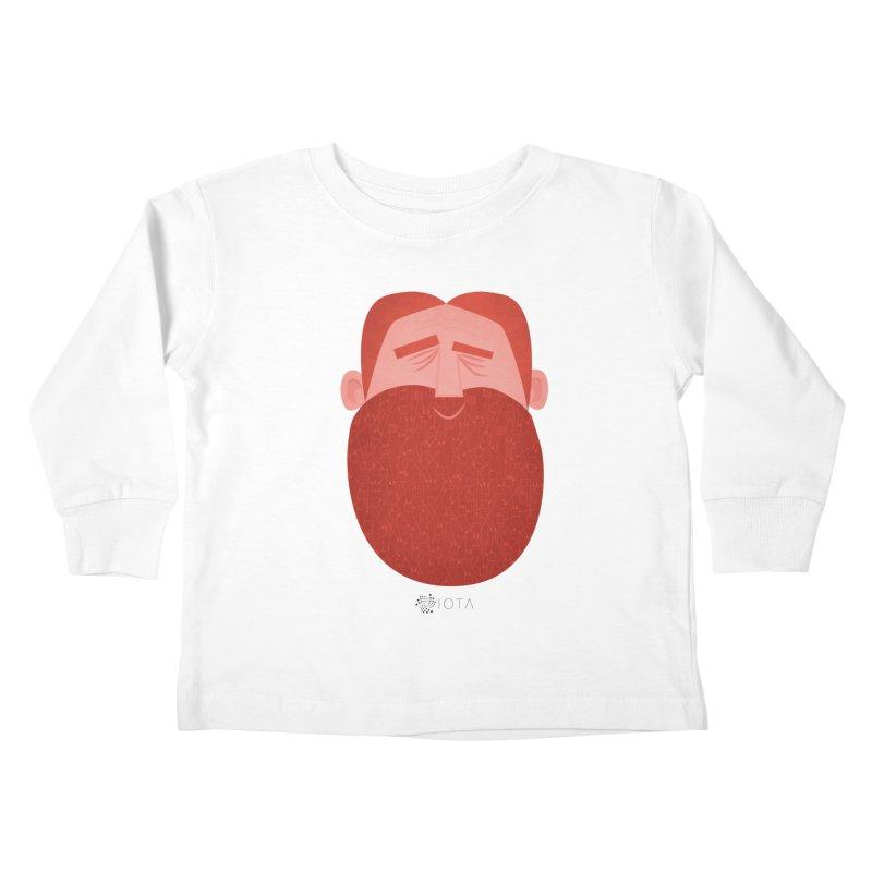 IOTA - Explore the Tangle - David's Beard Kids Toddler Longsleeve T-Shirt by amirabouroumie's Artist Shop