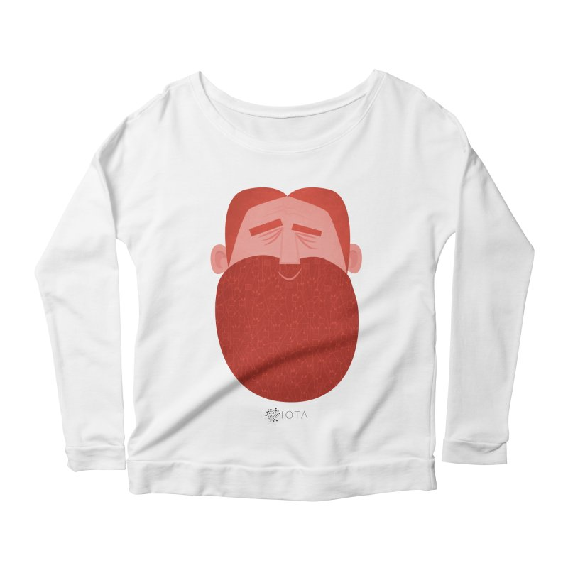 IOTA - Explore the Tangle - David's Beard Women's Scoop Neck Longsleeve T-Shirt by amirabouroumie's Artist Shop